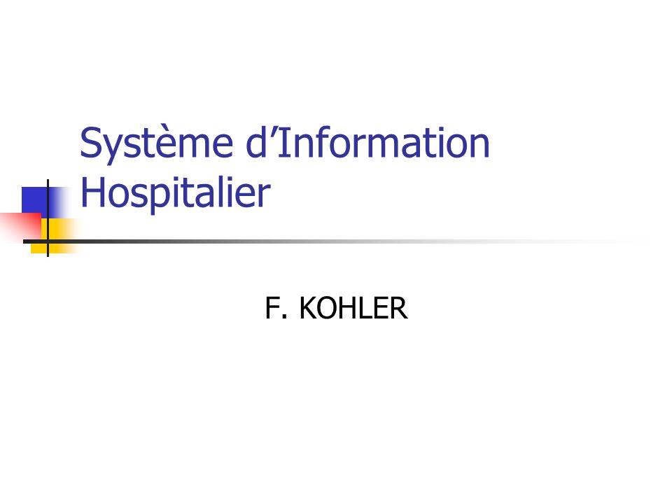 Système dInformation Hospitalier F. KOHLER