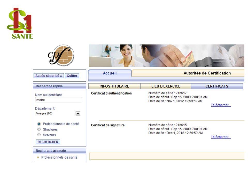 CPS : Certificats