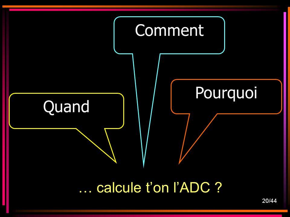 20/44 … calcule ton lADC ? Quand Comment Pourquoi