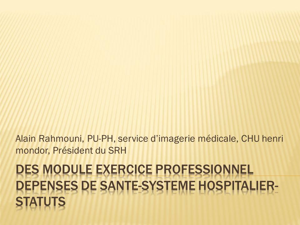 Alain Rahmouni, PU-PH, service dimagerie médicale, CHU henri mondor, Président du SRH