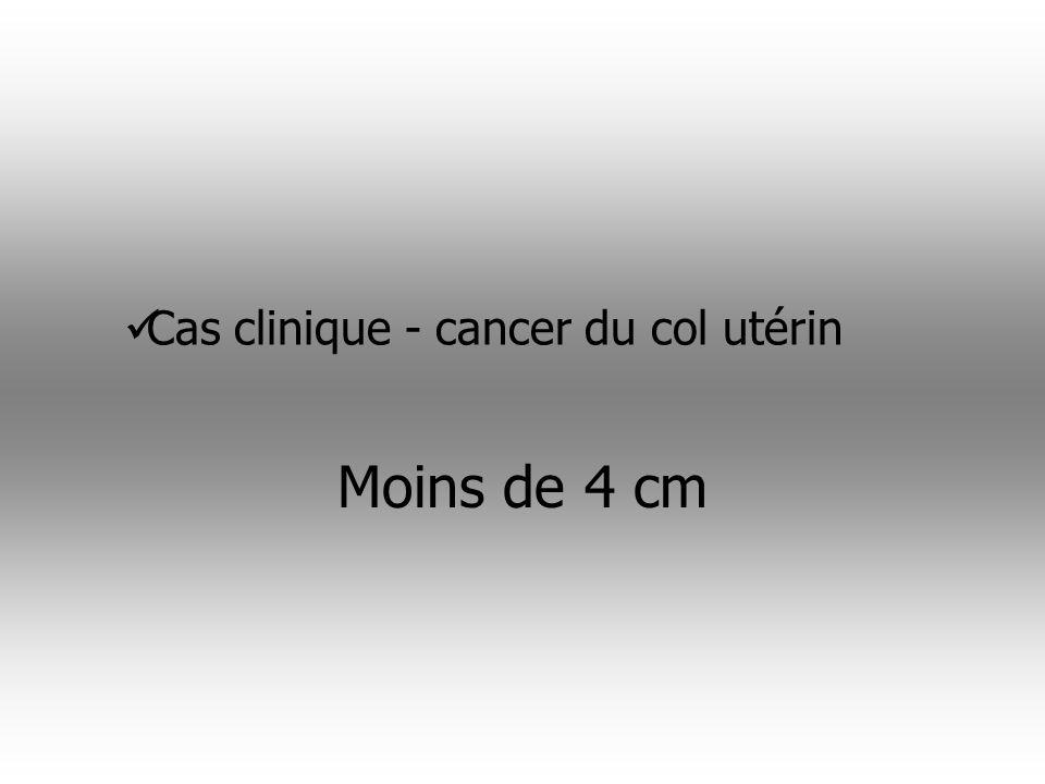 4- biopsie= lésion de carcinome épidermoide infiltrant Mme J a 45 ans, 5 enfants.