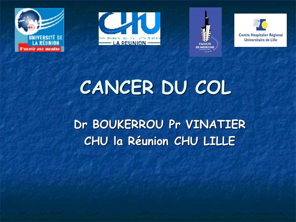 CANCER DU COL Dr BOUKERROU Pr VINATIER CHU la Réunion CHU LILLE