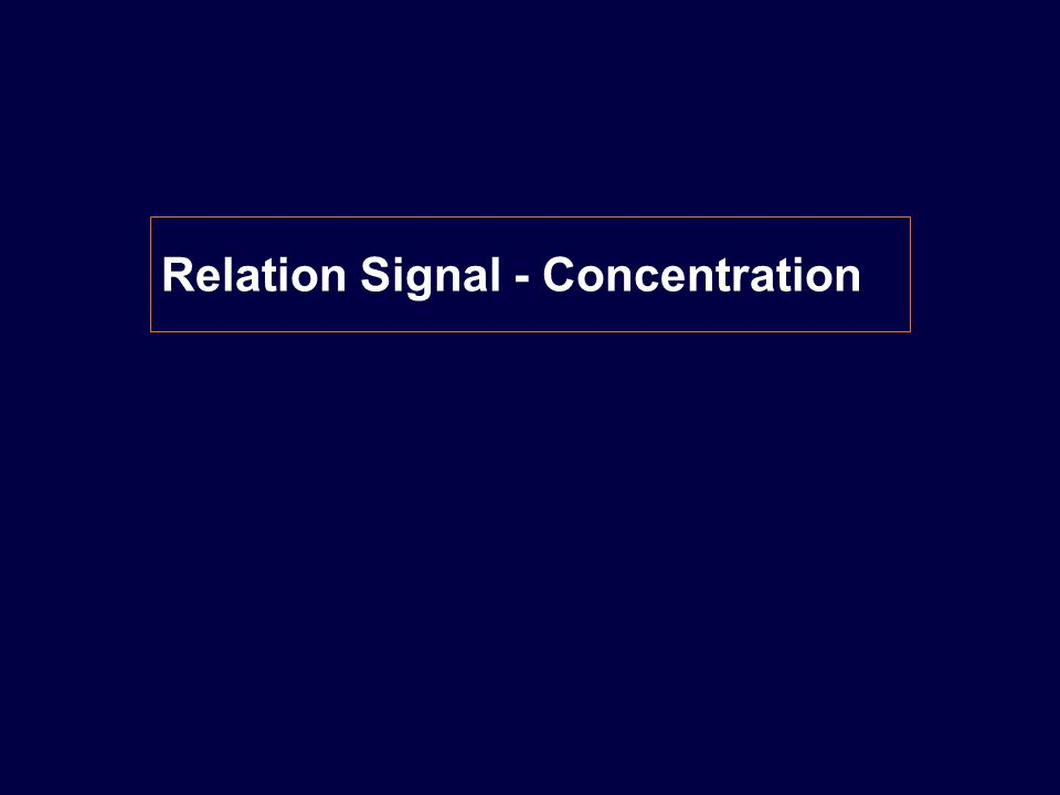 Relation Signal - Concentration