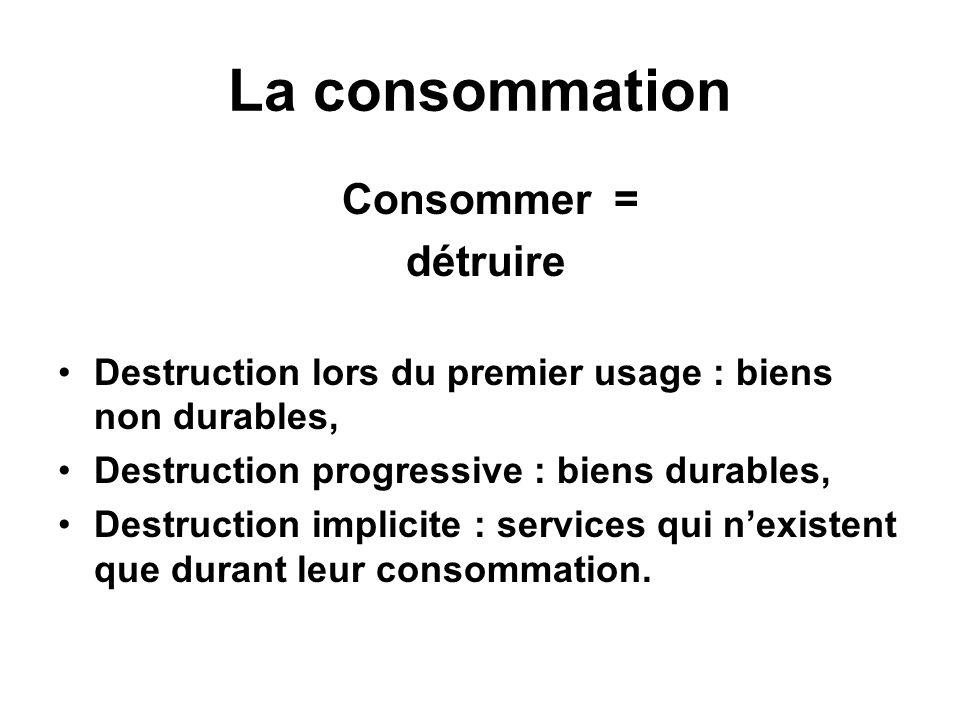La consommation L Insee met en évidence lévolution de la consommation des ménages à partir de lévolution des coefficients budgétaires.