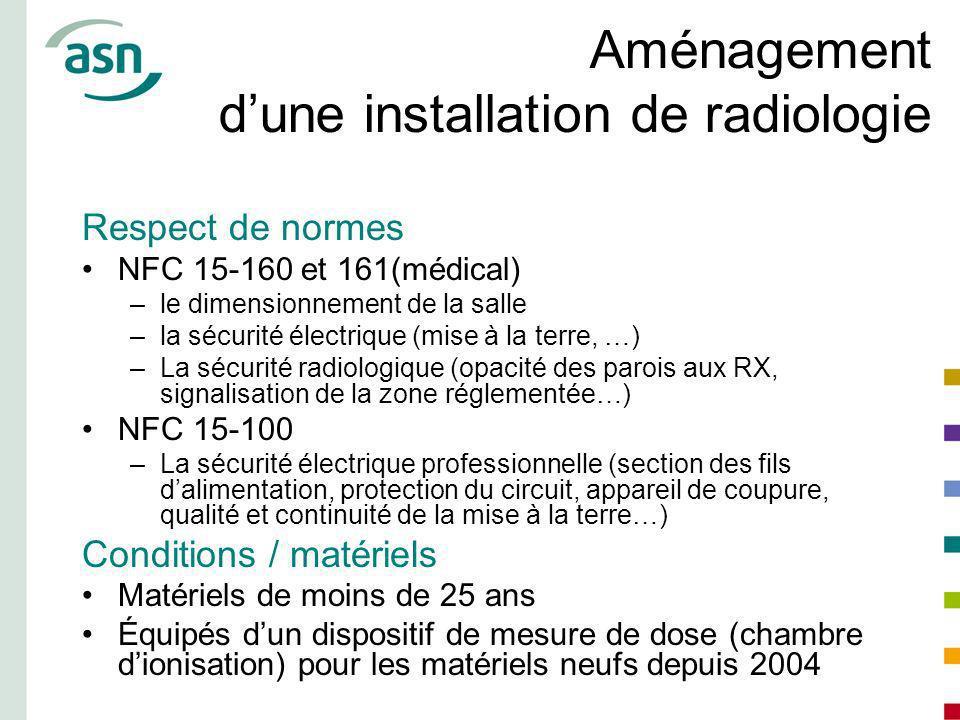 Aménagement dune installation de radiologie Respect de normes NFC 15-160 et 161(médical) –le dimensionnement de la salle –la sécurité électrique (mise