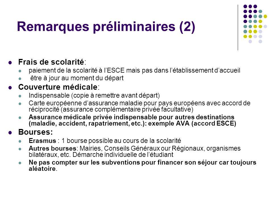 Récapitulatif information disponible sur www.esce.fr rubrique internationale, partir à létranger.www.esce.fr Date limite de candidature: 16 février 2007.