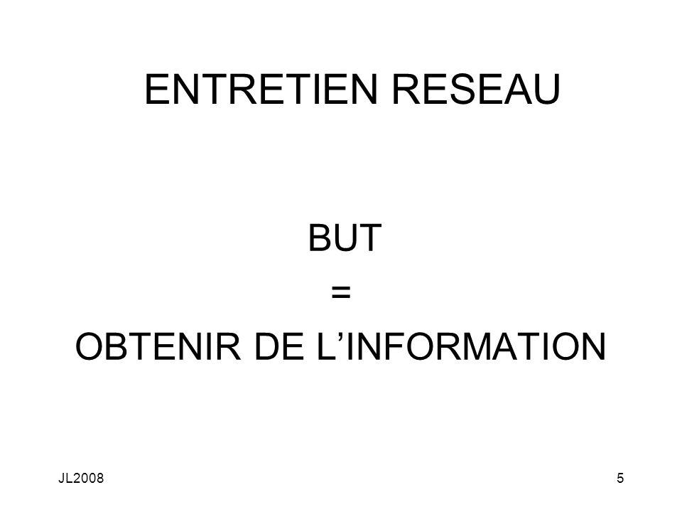 JL20085 ENTRETIEN RESEAU BUT = OBTENIR DE LINFORMATION
