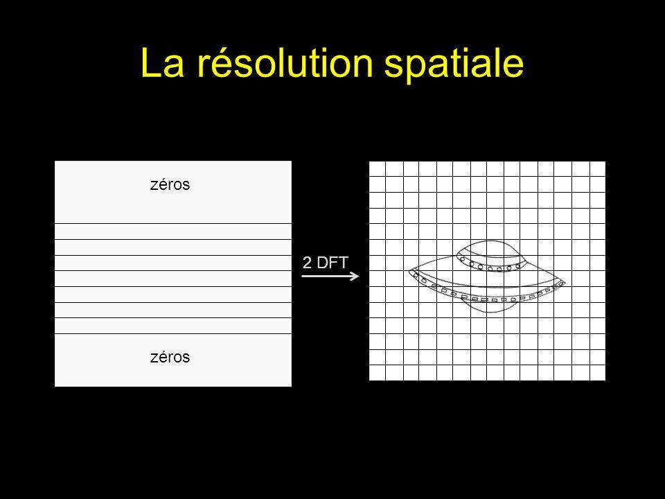 La résolution spatiale 2 DFT zéros