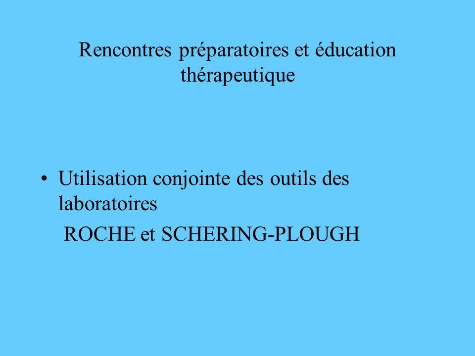 Rencontres préparatoires et éducation thérapeutique Utilisation conjointe des outils des laboratoires ROCHE et SCHERING-PLOUGH