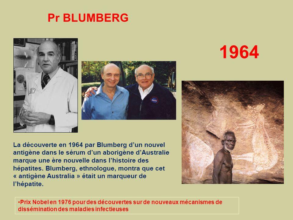 La découverte en 1964 par Blumberg dun nouvel antigène dans le sérum dun aborigène dAustralie marque une ère nouvelle dans lhistoire des hépatites. Bl