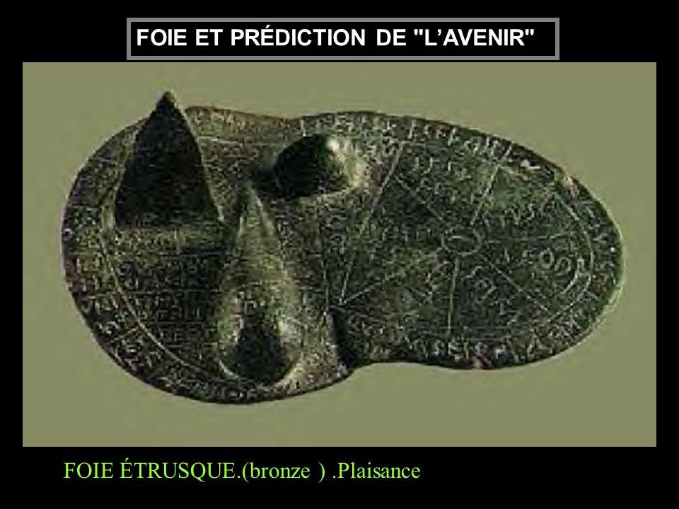 FOIE ÉTRUSQUE.(bronze ).Plaisance FOIE ET PRÉDICTION DE