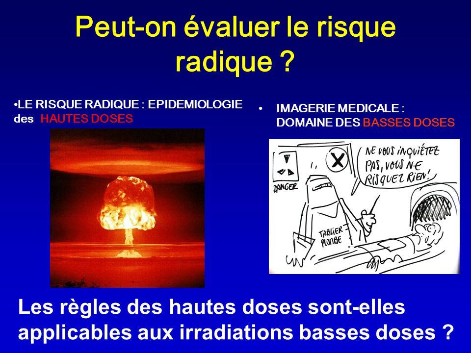Peut-on évaluer le risque radique ? IMAGERIE MEDICALE : DOMAINE DES BASSES DOSES Les règles des hautes doses sont-elles applicables aux irradiations b
