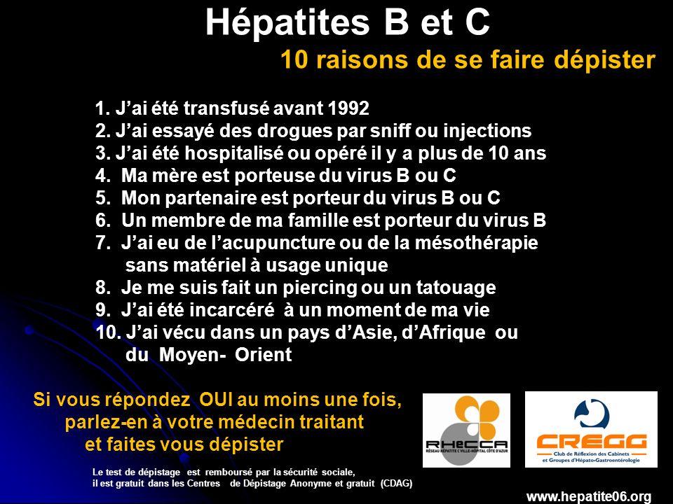Hépatites B et C 10 raisons de se faire dépister 1.