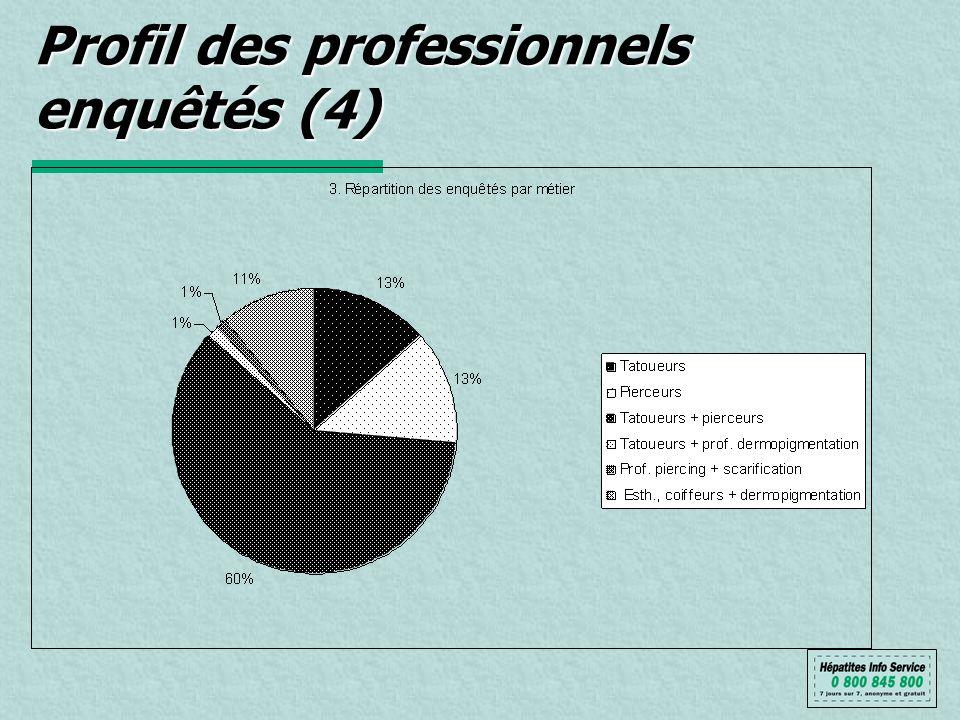 Profil des professionnels enquêtés (4)