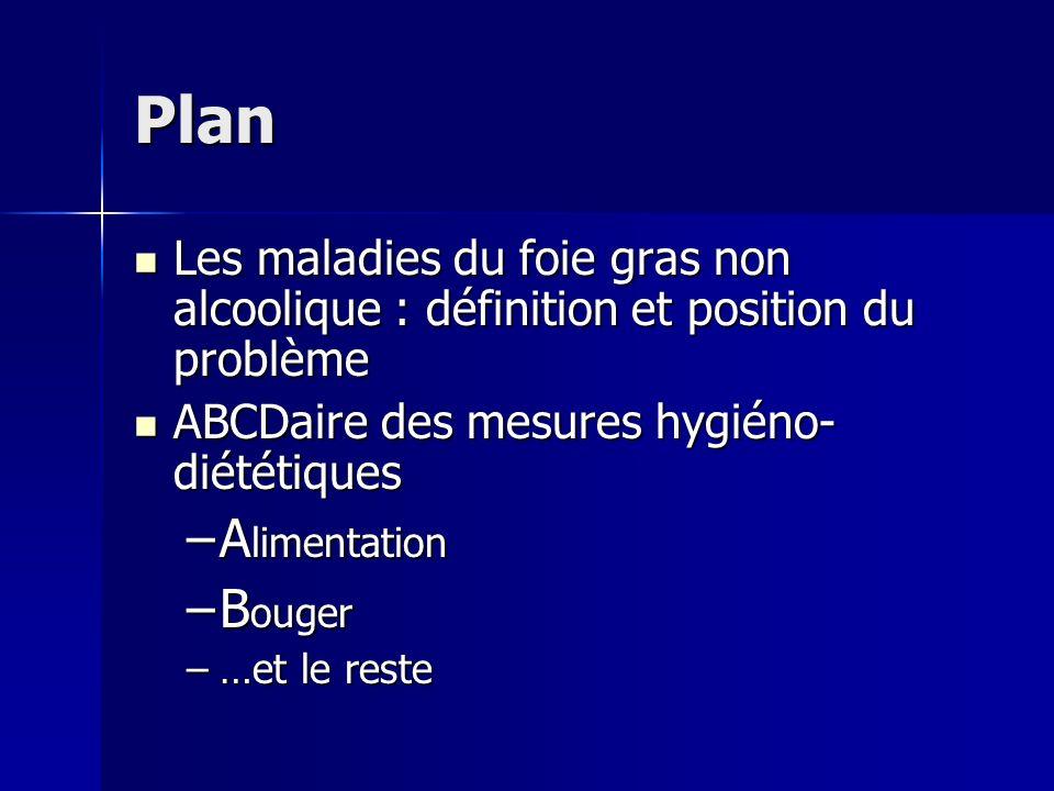Plan Les maladies du foie gras non alcoolique : définition et position du problème Les maladies du foie gras non alcoolique : définition et position d