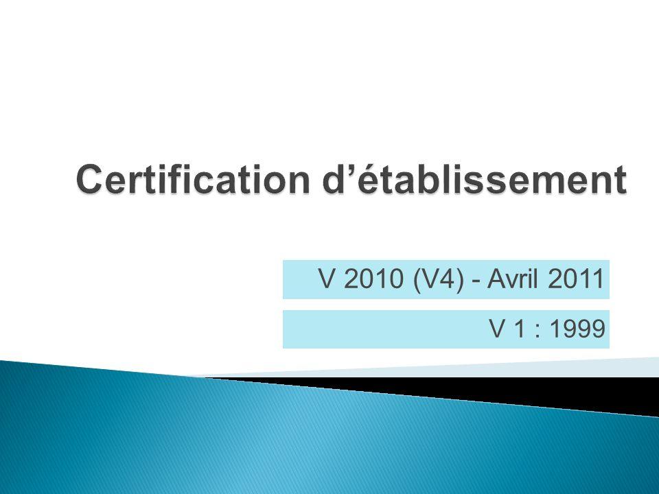 V 2010 (V4) - Avril 2011 V 1 : 1999