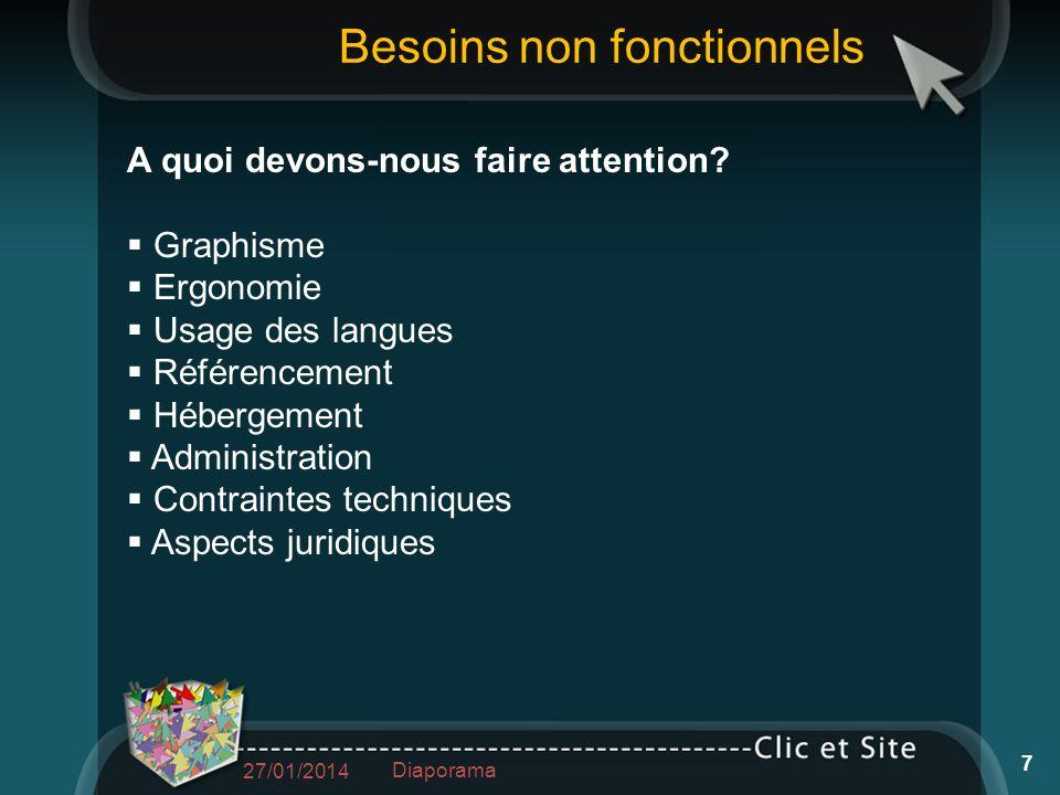 A quoi devons-nous faire attention? Graphisme Ergonomie Usage des langues Référencement Hébergement Administration Contraintes techniques Aspects juri