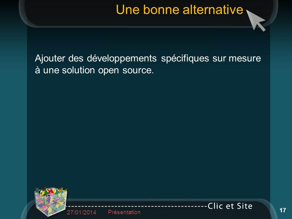 Ajouter des développements spécifiques sur mesure à une solution open source.