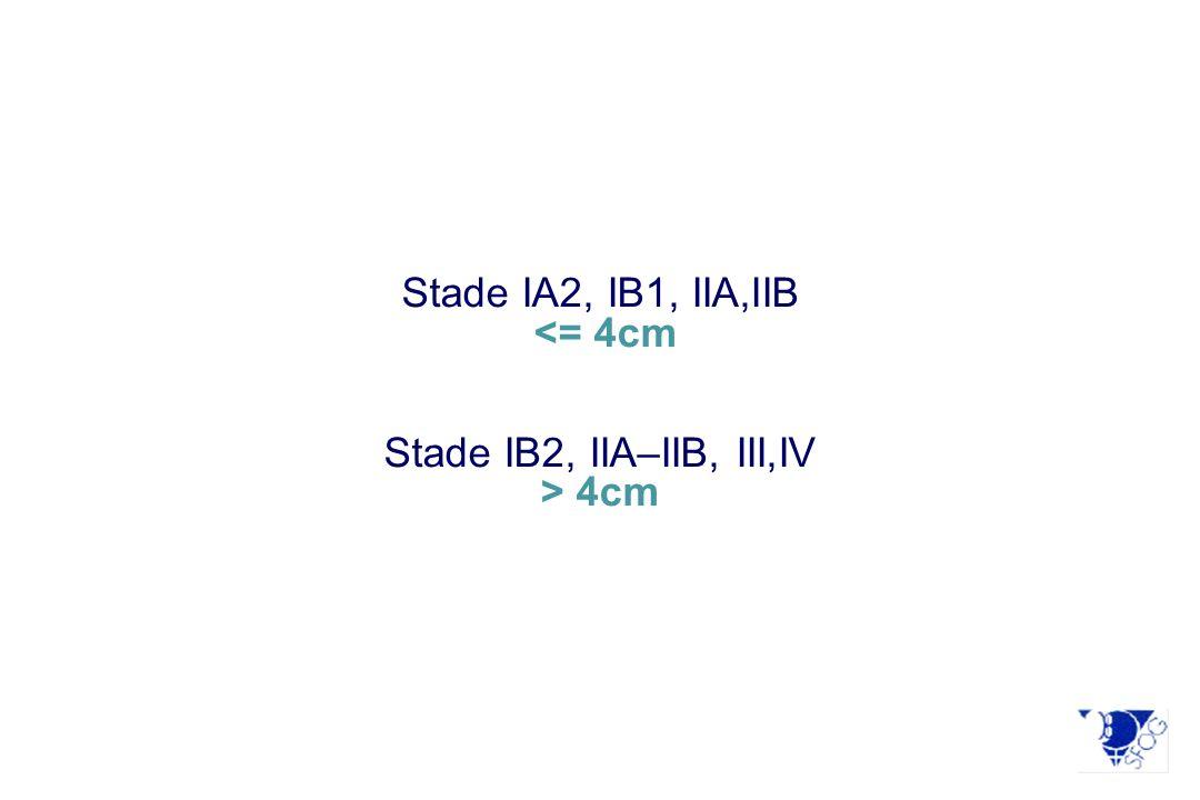 Stade IA2, IB1, IIA,IIB 4cm