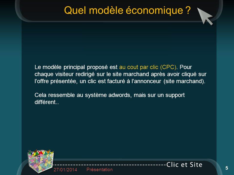 Le modèle principal proposé est au cout par clic (CPC).