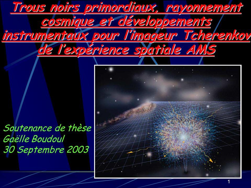 22 Les rayons cosmiques comme sonde des trous noirs primordiaux