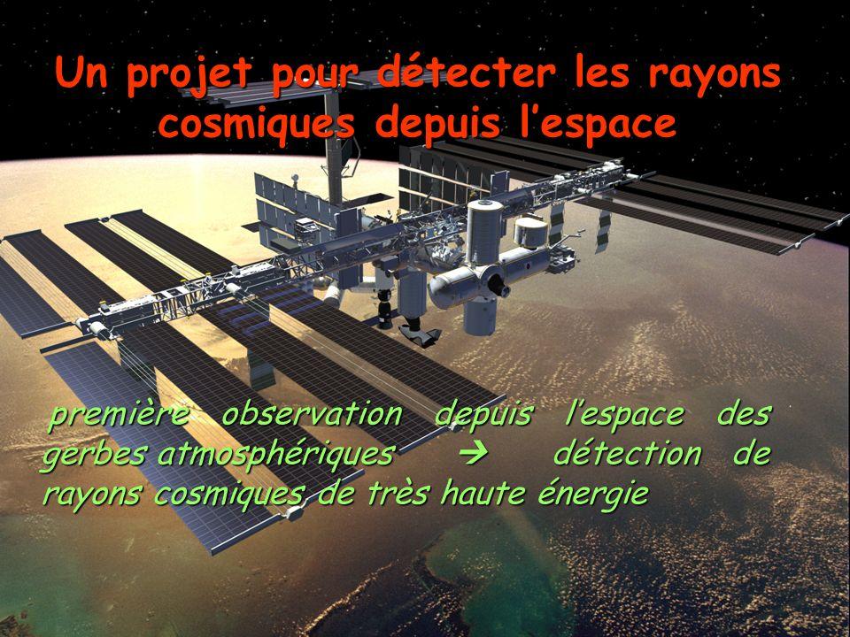 69 Corinne Bérat, « Energie Extrême », UCBL, 02/02/04 première observation depuis lespace des gerbes atmosphériques détection de rayons cosmiques de t