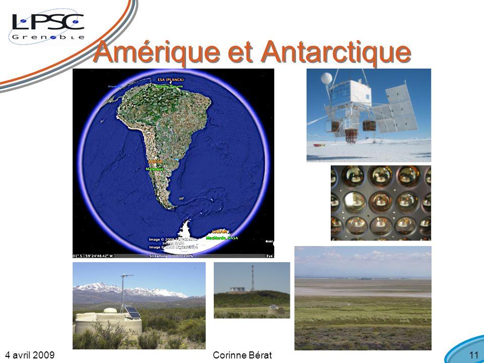 4 avril 2009Corinne Bérat11 Amérique et Antarctique