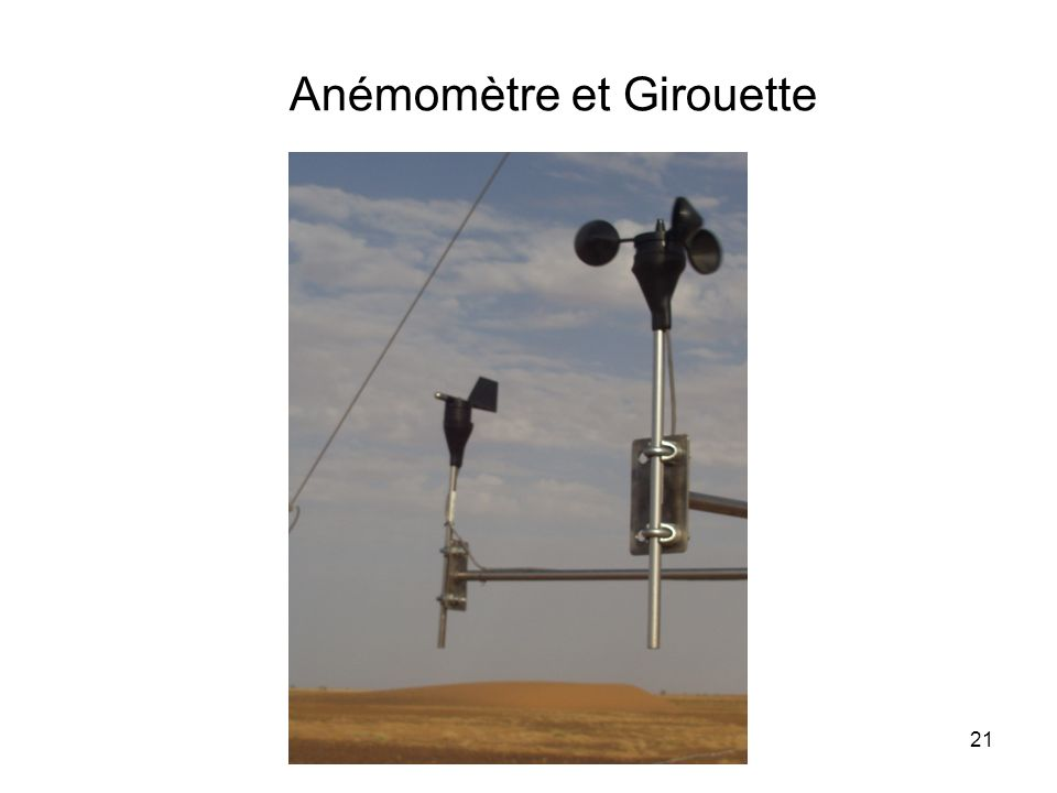 21 Anémomètre et Girouette