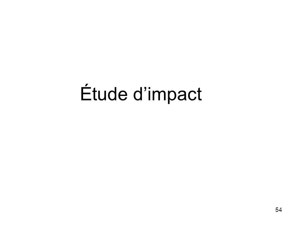 54 Étude dimpact