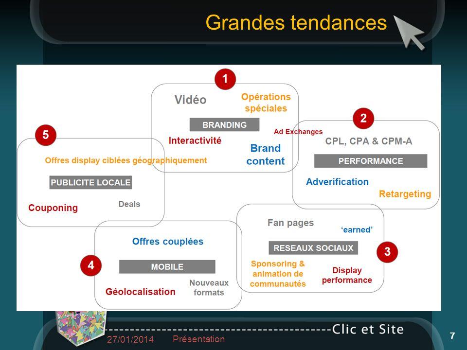 27/01/2014 Présentation 7 Grandes tendances