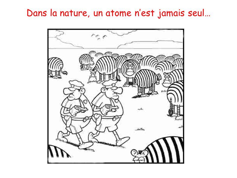 Dans la nature, un atome nest jamais seul…