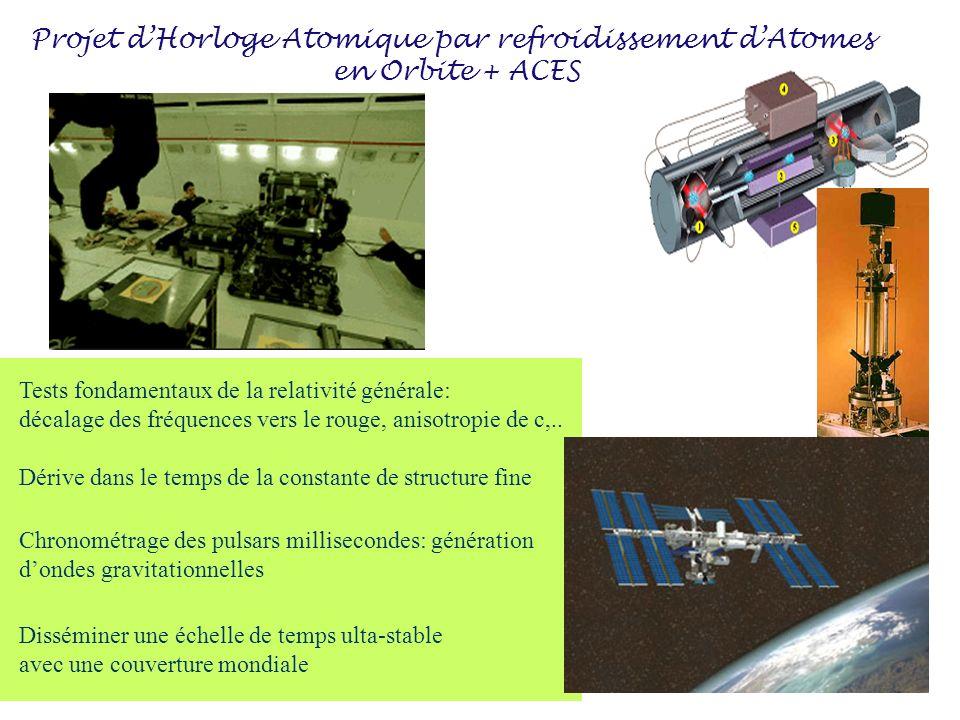 Projet dHorloge Atomique par refroidissement dAtomes en Orbite + ACES Disséminer une échelle de temps ulta-stable avec une couverture mondiale Tests f
