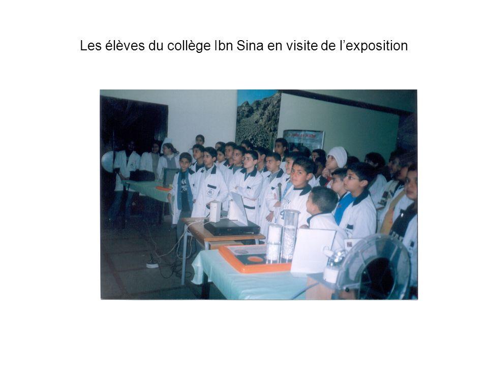 Les élèves du collège Ibn Sina en visite de lexposition