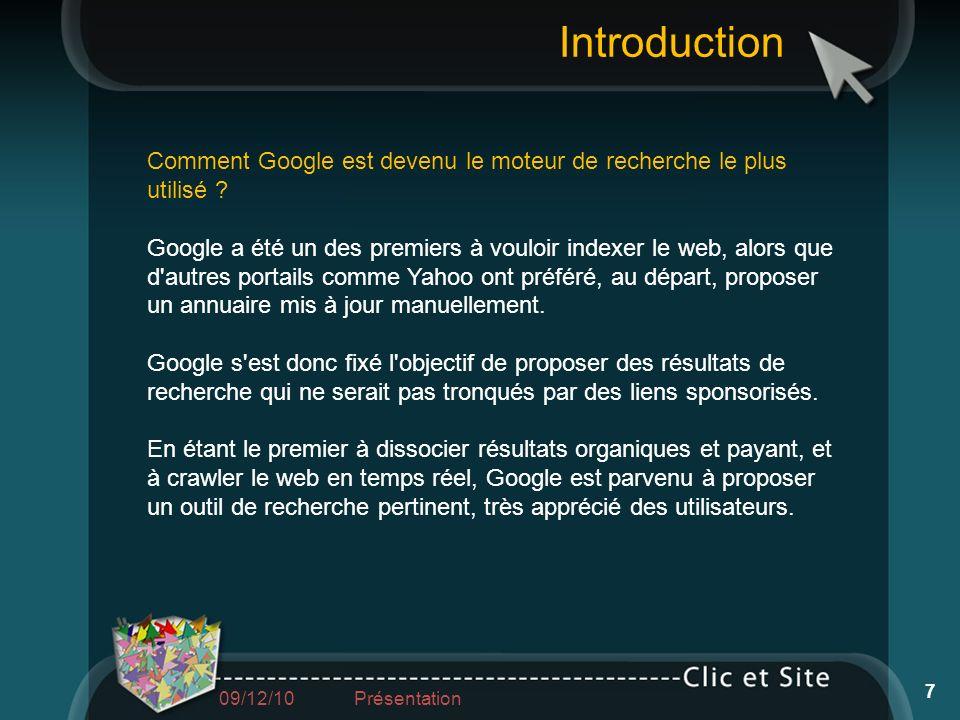 Comment Google est devenu le moteur de recherche le plus utilisé ? Google a été un des premiers à vouloir indexer le web, alors que d'autres portails