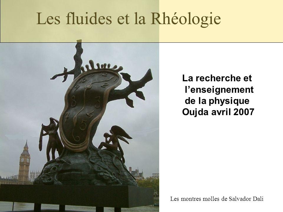 Les fluides et la Rhéologie Les montres molles de Salvador Dali La recherche et lenseignement de la physique Oujda avril 2007