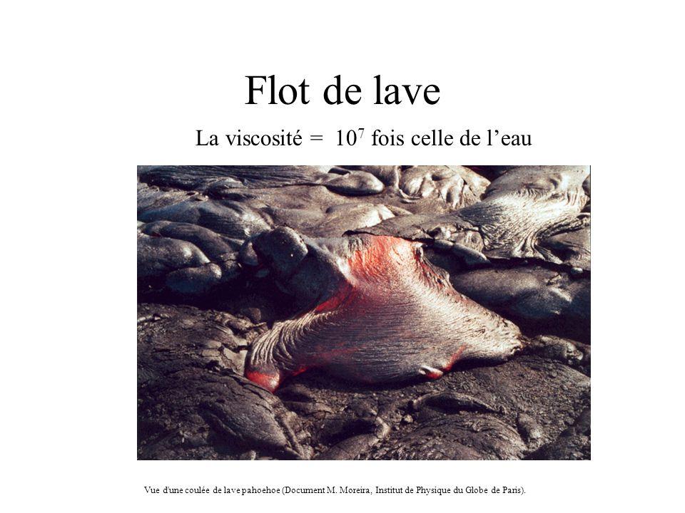 Flot de lave Vue d une coulée de lave pahoehoe (Document M.