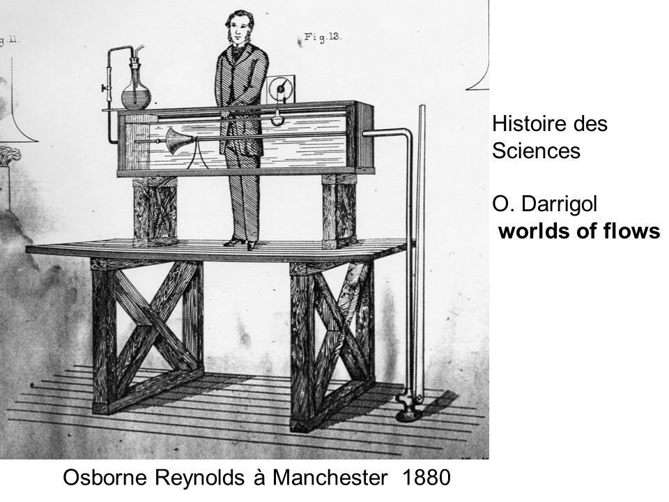 Histoire des Sciences O. Darrigol worlds of flows Osborne Reynolds à Manchester 1880
