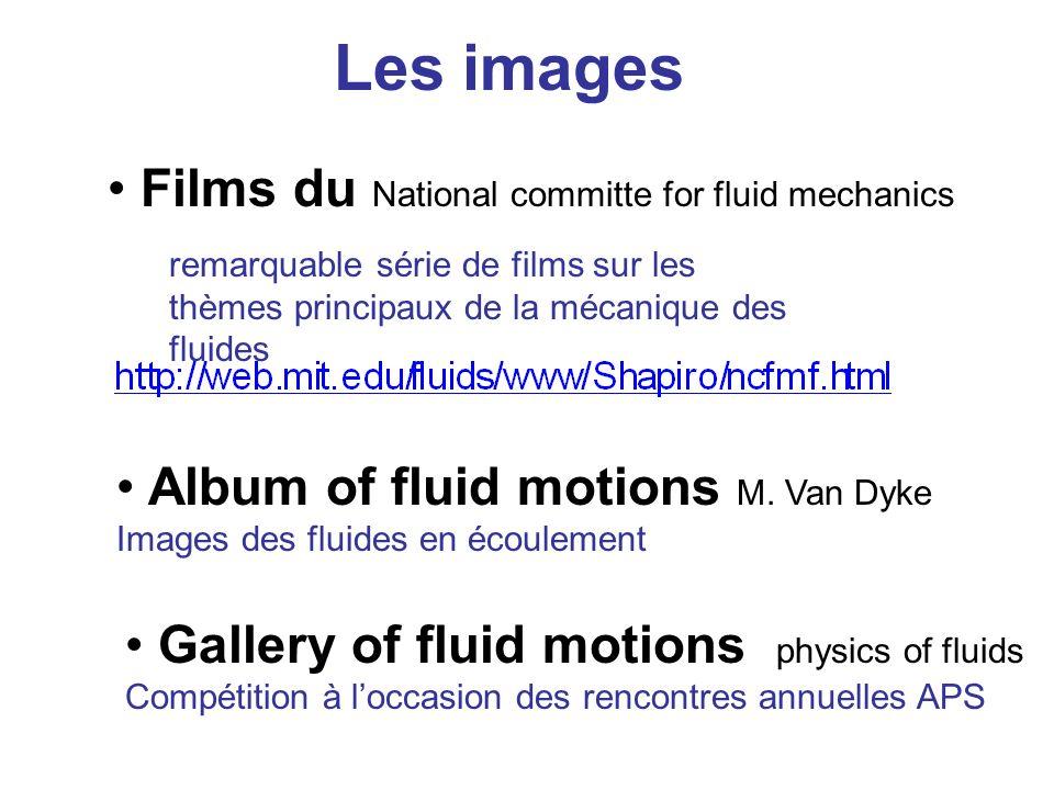 Films du National committe for fluid mechanics remarquable série de films sur les thèmes principaux de la mécanique des fluides Album of fluid motions M.