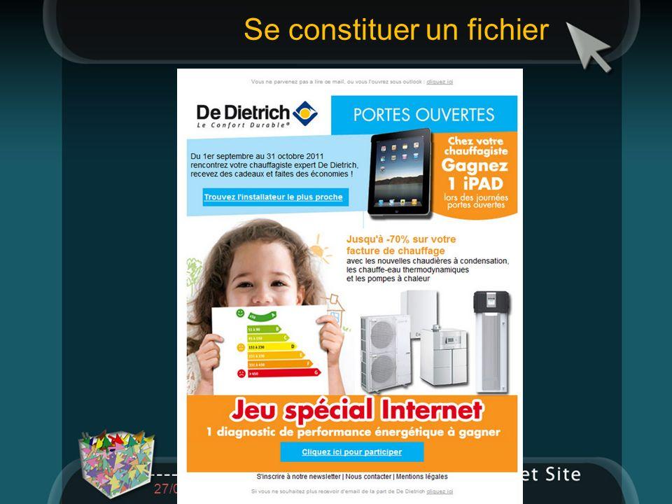 Se constituer un fichier 27/01/2014 Présentation