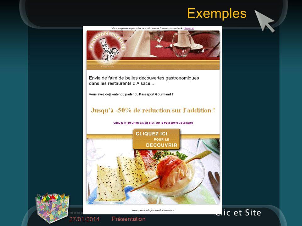 Exemples 27/01/2014 Présentation