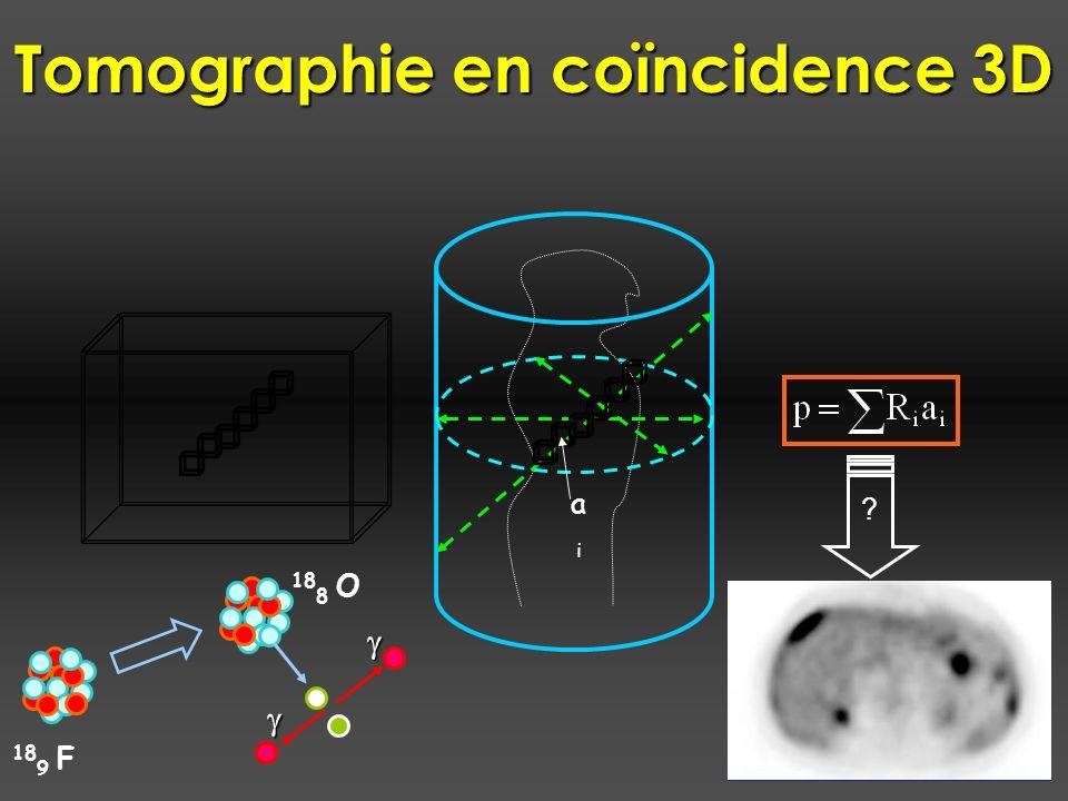 aiai 18 9 F 18 8 O ? Tomographie en coïncidence 3D
