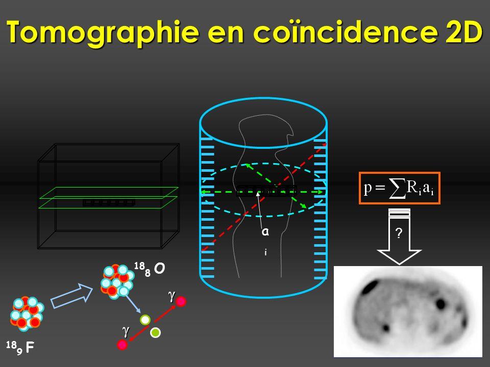 Tomographie en coïncidence 2D ? aiai 18 9 F 18 8 O