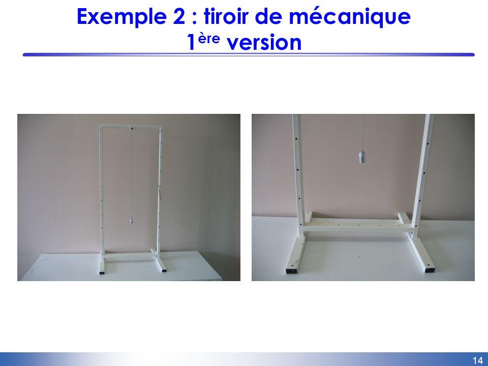 14 Exemple 2 : tiroir de mécanique 1 ère version