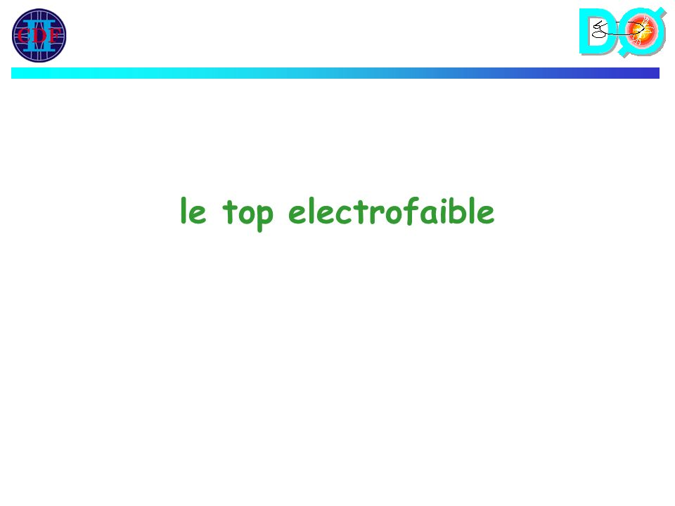 le top electrofaible