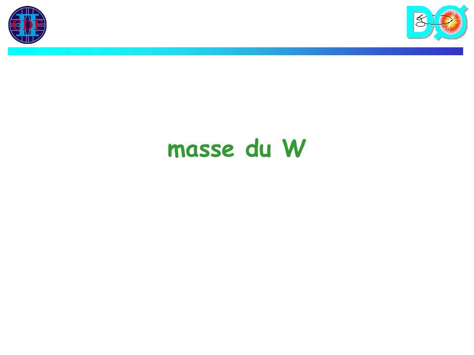 masse du W