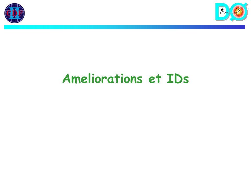 Ameliorations et IDs