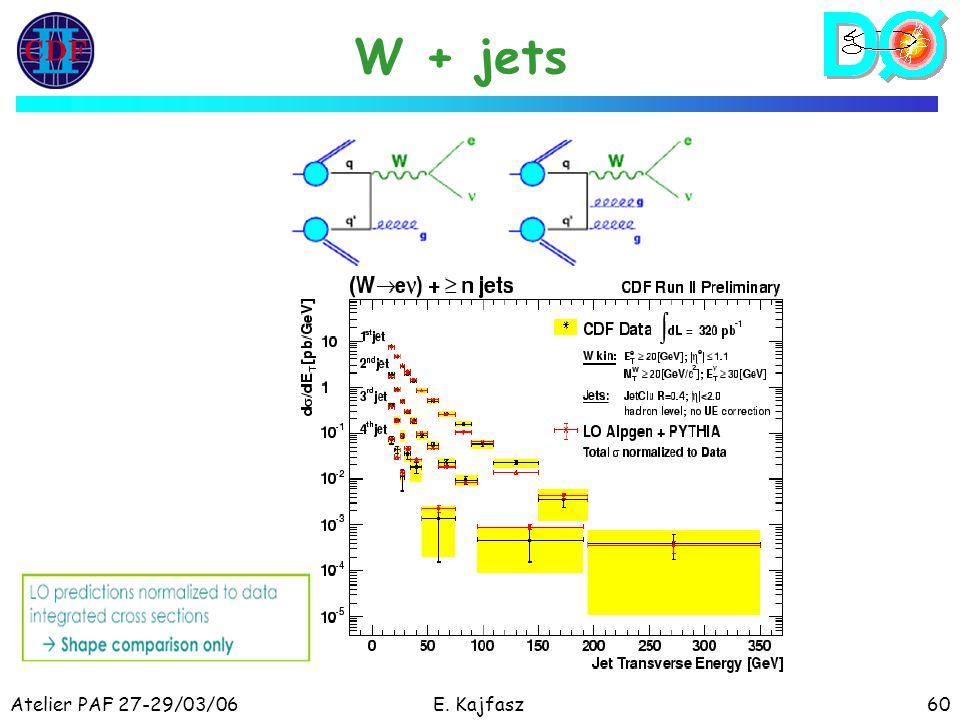 Atelier PAF 27-29/03/06E. Kajfasz60 W + jets