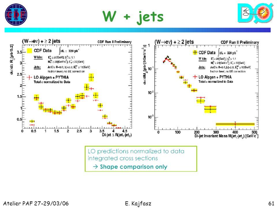 Atelier PAF 27-29/03/06E. Kajfasz61 W + jets