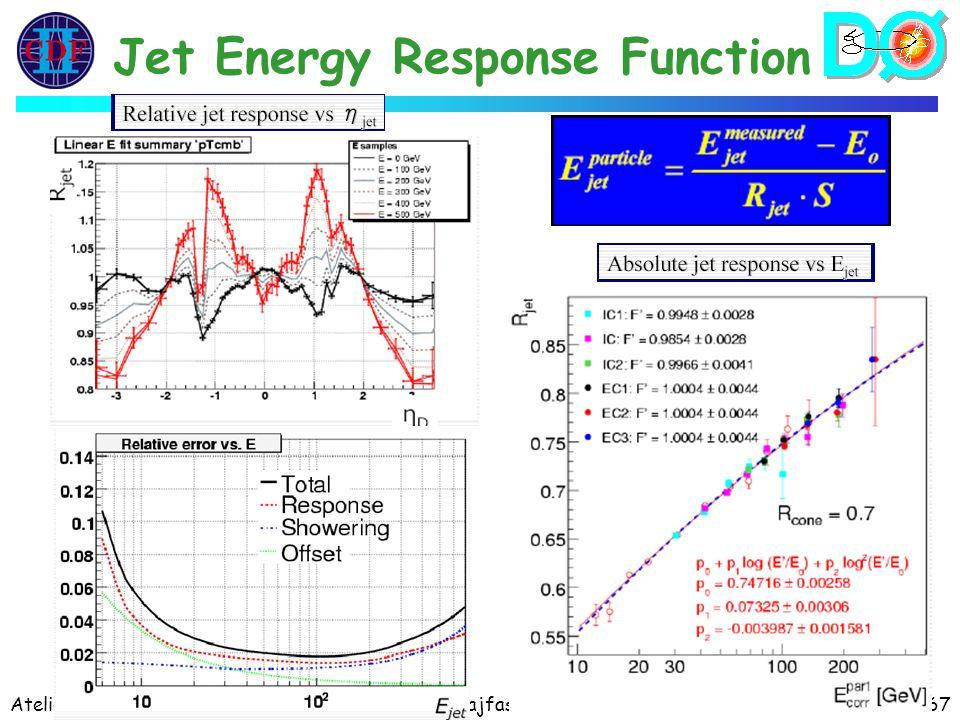 Atelier PAF 27-29/03/06E. Kajfasz67 Jet Energy Response Function