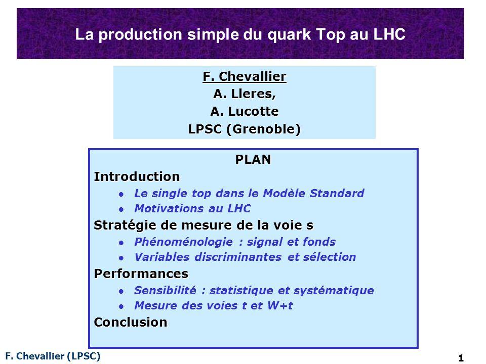 F. Chevallier (LPSC) 12 BACKUP SLIDES
